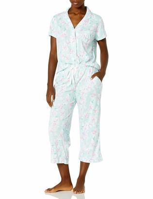 Karen Neuburger Women's Short-Sleeve Girlfriend Crop Pajama Set PJ