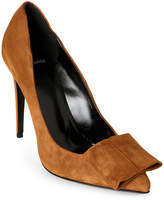 Pierre Hardy Camel Bow-Accented Pointed Toe Pumps