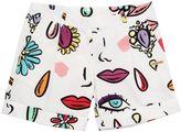 Moschino Printed Cotton Poplin Shorts