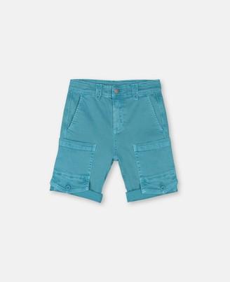Stella McCartney blue washed denim shorts
