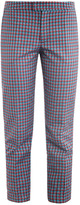 Marc by Marc Jacobs Clover check cropped trousers