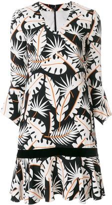 Talbot Runhof Jungle Print Flared Dress