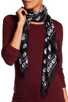 Collection XIIX Skull Border Square Scarf