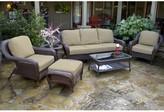 Sangria Fleischmann 6 Piece Sofa Set with Cushions Darby Home Co Color: Java, Fabric: Montfleuri