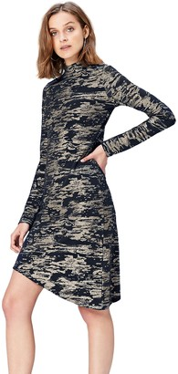Find. Amazon Brand Women's Jersey Metallic Camouflage Dress