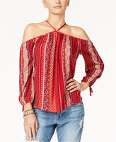 American Rag Printed Off-The-Shoulder Top, Only at Macy's