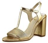 Louise et Cie Gabbin Women Open Toe Leather Gold Sandals.