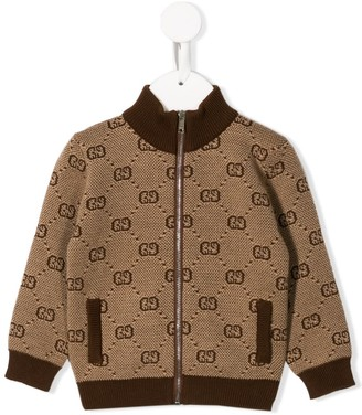 Gucci Kids GG knitted jacket