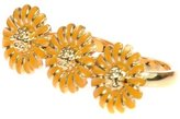 Johnny Loves Rosie Orange Floral Statement Double Ring