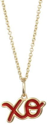 Sydney Evan 14K Yellow Gold & Enamel XO Necklace