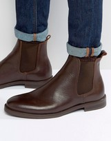 Selected Marc Chelsea Boot In Brown Leather