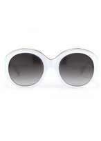 Matthew Williamson White Oversized Sunglasses