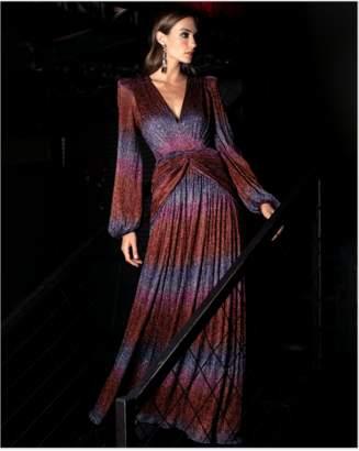 PatBO Rainbow Lurex Long Sleeve Dress