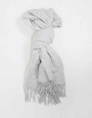 ASOS DESIGN neppy scarf with tassels