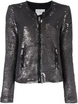 IRO 'Bush' jacket - women - Cotton/Lamb Skin/Polyester/Elastolefin - 1