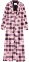 MSGM Open-weave cotton-tweed coat