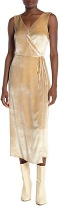 Vince Pann Wrap Velvet Midi Dress