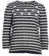 Comme des Garcons Button Back Stripe Sweater