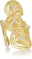 Ileana Makri Geometry 18-karat gold diamond ring
