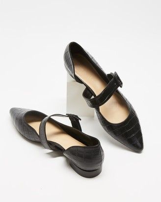 Atmos & Here Atmos&Here - Women's Black Loafers - Cassis Leather Flats - Size 5 at The Iconic