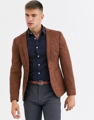 Asos Design DESIGN super skinny jersey blazer in tan