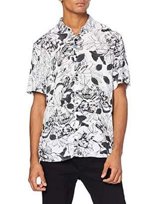 Casual Shirt Company Men's Linear Short Sleeve Casual Shirt