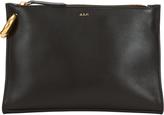 A.L.C. Joni Top Zip Leather Clutch