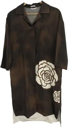 Miu Miu Brown Silk Coat for Women