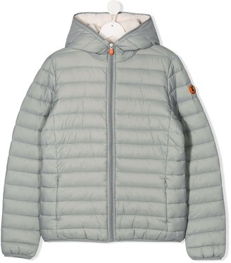 Save The Duck Kids TEEN sleeve patch puffer jacket