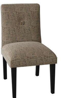 Sloane Whitney Fresno Tuffed Upholstered Side Chair Body Fabric: Trinity Denim, Leg Color: Natural