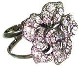 Kenneth Jay Lane Crystal Flower Cuff Bangle