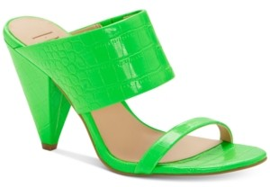 INC International Concepts Inc Women's Lovisha Double-Strap Slide Heels, Created for Macy's Women's Shoes