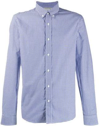 Brunello Cucinelli check print long-sleeved shirt