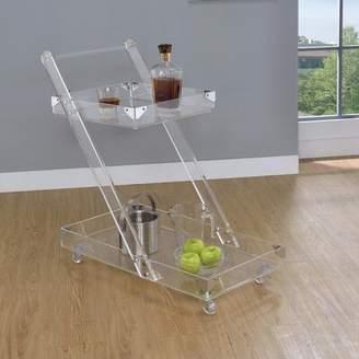 Everly Quinn Frink Acrylic Bar Carts Quinn