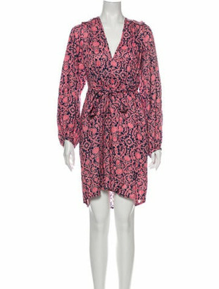 Banjanan Printed Knee-Length Dress w/ Tags Pink