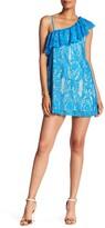 Trixxi One Shoulder Ruffle Lace Dress