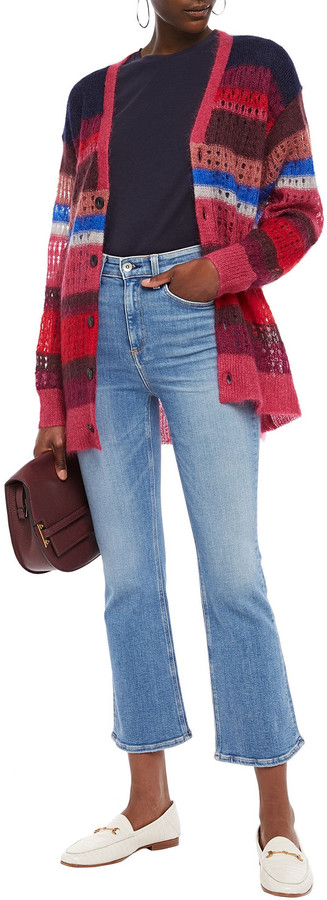 Thumbnail for your product : Rag & Bone Faded High-rise Kick-flare Jeans