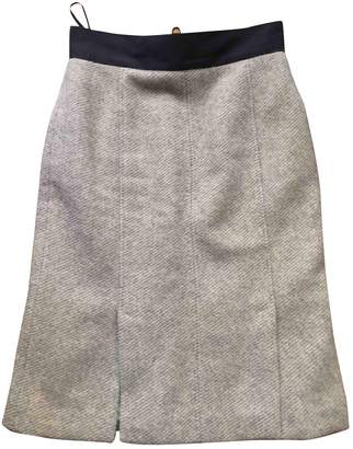 Albino Grey Wool Skirt for Women