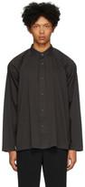 Issey Miyake Homme Plisse Black Jersey Long Sleeve Shirt