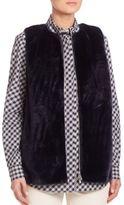 Lafayette 148 New York Bountiful Faux Fur Kieran Vest