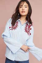 Anthropologie Hudson Embroidered Shirt