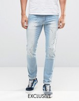 Hero's Heroine Heros Heroine Slim Jeans With Paint Splatter