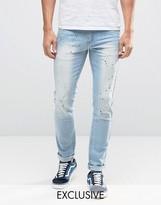 Hero's Heroine Heros Heroine Slim Jeans With Paint Splatter