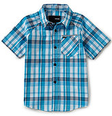 Hurley Little Boys 4-7 Plaid Raglan-Short-Sleeve Woven Shirt