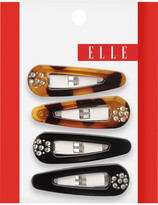Elle Snap Clip With Rhinestones Assorted