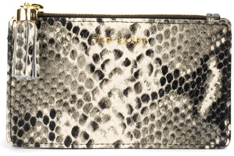 Ted Baker Kaislee Exotic Tassel Zip Leather Card Holder