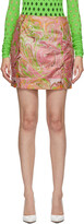 Thumbnail for your product : MAISIE WILEN SSENSE Exclusive Pink Call Me Mini Skirt