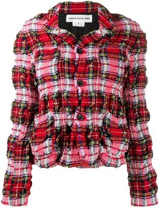 COMME DES GARÇONS GIRL Creased Checked Print Jacket