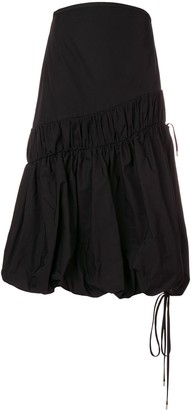 Ellery Dune bubble hem skirt