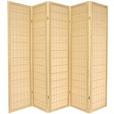 Oriental Furniture Asian Bamboo Furniture, 6-Feet Kimura Japanese Shoji Floor Screen Room Divider